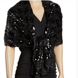 Betsey Johson sequined wrap scarf
